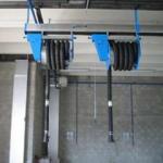Elektrický navíjač hadice pre odsávacie lišty